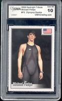 2008 Michael Phelps Spotlight Tribute Swimming Rookie Gem Mint 10 #P5