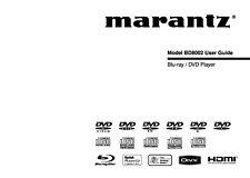 Bedienungsanleitung-Operating Instructions für Marantz BD 8002