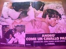 Fotobusta ANDRO' COME UN CAVALLO PAZZO 1975 Fernando Arrabal, Emmanuele Riva (1)