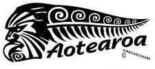 AOTEAROA NEW ZEALAND KIWI FERN WARRIOR STICKER BUMPER STICKER
