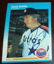 Dave Smith Signed 1987 Fleer Astros Baseball Card Autograph 1986 & 1990 All Star