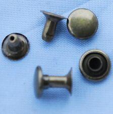 500x 7mm Single Cap RIVETS Dark Brass TONE Leather Craft