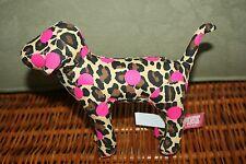Victoria's secret love pink plush dog Leopard print stuffed animal  flowers