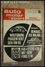 AMS Auto Motor Sport 16/64 Ford 17 M Renault R 8 Major Ford 12 M Rallye