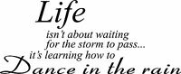 Life isn't about waiting Storm wall decal quote sticker Inspiration Decor vinyl