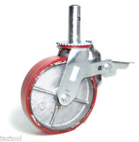"Caster Wheel HEAVY DUTY Scaffold 8"" X 2"" Polyurethane Caster Wheel Scafolding"