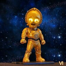 "1pc 3.5"" C-3PO Kenner Action Figure Toy Star Wars Arm Move Doll Eye Light Figure"