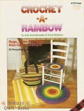 Crochet a Rainbow Crochet Pattern Book Rugs Totes Mats Seat Covers Placemats NEW