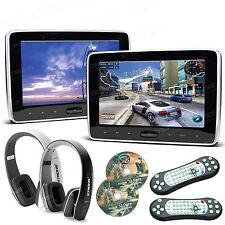 "2x 10.1"" Digital Screen Auto Kopfstütze TFT Monitor DVD Player HDMI +2 Kopfhörer"
