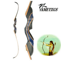 """56""""Recurve Bow 20-55lbs Takedown Wooden Adult Longbow Right Hand Archery Hunting"""