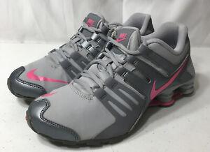 2015 Nike Shox Gray/Pink Youth Shoes Sz 6Y Women's 7.5 - 8 739638-060