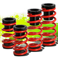 "FOR 93-97 FORD PROBE/MX6 FRONT+REAR RACING COILOVER 1-3""LOWERING SPRING RED"