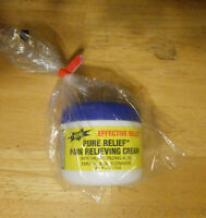 EFFECTIVE RELIEF PURE RELIEF PAIN RELIEVING CREAM  glucosamine,aloe,emu oil, 4oz
