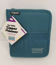 Nwt New Mead Five Star Fat Little Day Planner Organizer Green 7x6 Vtg Vintage