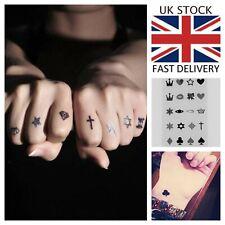 20 Crown Heart Star Waterproof Temporary Tattoo Hand Face Women Men Fake Sticker
