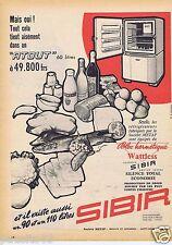 Publicité Advertising 096 1957 Sibir le réfrigérateur