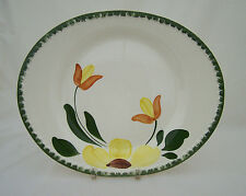 "Blue Ridge Southern Potteries Mountain Meadow 14"" Oval Platter Hand Painted"