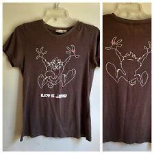 UGIZ Tasmanian Devil Tshirt sz 9 Let's Jump Tee  (small?) Warner Bros Front/Back