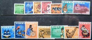 Zambia Scott #   4-17 Set of 14, Mint OG Never Hinged