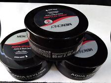 3 x Mon PLATIN Strong Aqua Styling Black Caviar Hair Wax Jojoba 85ml