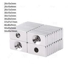 Neodym Magnete N35 Magnete Quader mit Loch Bohrung Senkung Stark Magnete