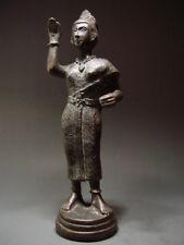 Antique Bronze Thai Female Deity 'Nang Kwak' Wealth Goddess. 19/20th c.