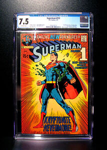 COMICS: DC: Superman #233 (1971), classic iconic Neal Adams cover - CGC 7.5