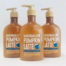 Bath & Body Works Marshmallow Pumpkin Latte Nourishing Hand Soap 8 oz (3 Pack)