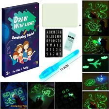 A4 size Light Drawing Board Magic Draw Kids Toys For Kids Art Pad Full Set Gift