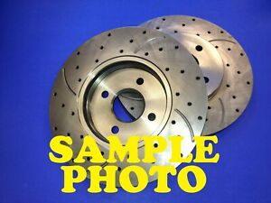 Set Front Drilled Slotted Brake Rotors for 64-67 FORD MUSTANG / 67 FAIRLANE