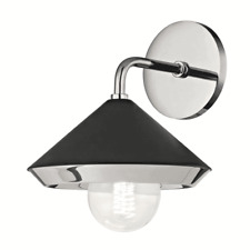"""Mitzi Marnie 11"""" Wall Sconce - Polished Nickel and Black BRAND NEW H139101-PN/BK"""