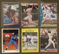 Future HOFer Fred McGriff 6-card lot including 1986 Donruss ROOKIE