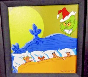 How The Grinch Stole Christmas Dr Suess Giclee Candy Cane Caper & Binder Page