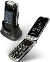 Geemarc CL8500 - Amplified Clamshell SIM-Free Mobile Phone with Dual LCD Camera,