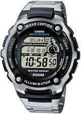 Casio Wave Ceptor | Funkuhr digital Herren Armbanduhr Weltzeit WV-200DE-1AVER