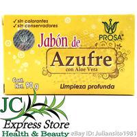 JABON DE AZUFRE SULPHUR BAR SOAP LIMPIEZA PROFUNDA CON ALOE VERA 90 GR 3.17 OZ