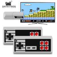 DATA FROG Mini TV Game Stick Console 600 Built-in Games 2×Wireless Gamepad