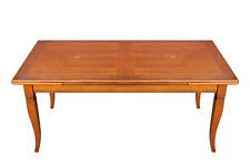 Table marquetée cm 170 à rallonge, table en bois, salle à manger