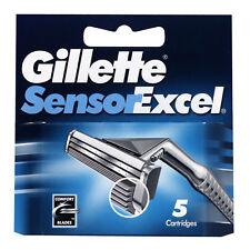 6X Gillette Sensor Excel Razor Blades Pack of 5 cartridges comfort blades