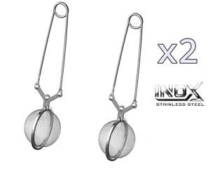 2 Infusori Filtro per Tè Tisane Infusi Acciaio Inox Tea Ball Pinza Sfera 5 Cm