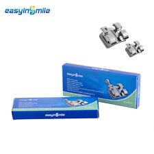 2Pcs EASYINSMILE Dental Brackets Mini Roth 022 3w/hook Orthodontic Metal Bracket