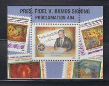 Philippine Stamps 1995 Pres. Fidel Ramos Signing Proclamation ss complete MNH