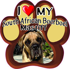 I LOVE MY SOUTH AFRICAN BOERBOEL MASTIFF Bumper sticker PAW #264