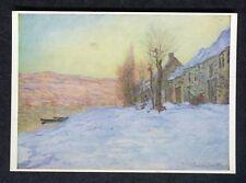 c1970s Art Card: Lavacourt in Winter: Monet