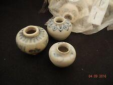 HOI AN - 3 each - Blue & White - Exquisite Mini Jars