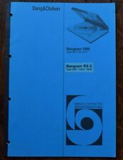 Bang & Olufsen BEOGRAM 1800 & RX-2 SERVICE MANUAL, B&O, IN GERMAN & FRENCH