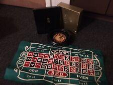 Rare Vintage Antique Drueke & Sons Miniature Traveling Roulette Wheel Model 87-c