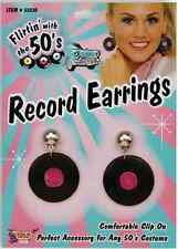 Record Earrings 50's Sock Hop Poodle Fancy Dress Up Halloween Costume Accessory