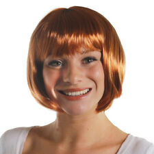 Ginger Bob Wig With Fringe Womens Red Auburn Fancy Dress Costume Accessory