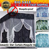 Anti-glar Lightproof Four Corner Bed Curtain Canopy +Mosquito Net+Bed Frame Post